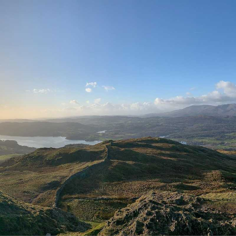Wansfell Pike looking out over Windermere